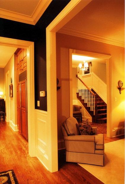 Farmhouse Living Room by Michael Buss Architects, Ltd