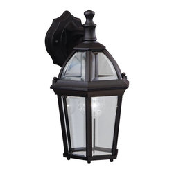 Kichler - Kichler Trenton Outdoor Wall Mount Light Fixture in Black (Painted) - Shown in picture: Outdoor Wall 1Lt in Black (Painted)