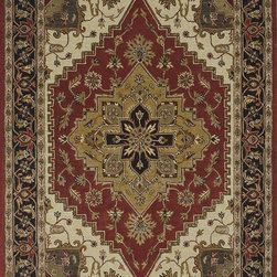 "Loloi - Loloi Maple MP-39 (Rust, Chocolate) 3'6"" x 5'6"" Rug - 100% wool hand tufted rugs that are made in India. Traditional Persian designs are created using deep rich colors."