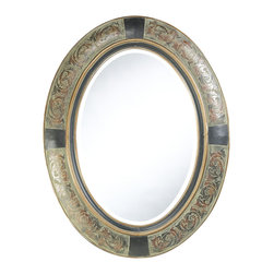 Cooper Classics - Sawyer Mirror - Shown in Aged Brown Finish. Sawyer Mirror is 27 in. W x 35 in. H.