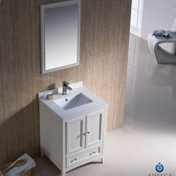 "Fresca - Fresca Oxford 24"" Traditional Single Sink Bathroom Vanity Set - Blending clean lines with classic wood, the Fresca Oxford Traditional Bathroom Vanity is a must-have for modern and traditional bathrooms alike. The vanity frame itself features solid wood in a stunning mahogany finish that's sure to stand out in any bathroom and match all interiors. Available in many different finishes and configurations."