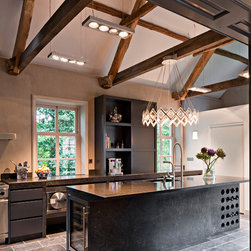 Bluestone Dream - Gorgeous streamlined chef's kitchen with that vintage air accented by the cobbled bluestone floor. Superb.