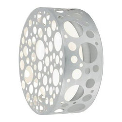 Eglo - Eglo Rocker 1-Light Wall Aluminum Light 89541A - Shop for Lighting & Fans at The Home Depot. The Rocker 1-Light Wall Light pushes the modern envelope with its edgy new age styling. A flat cylindrical cage filled with circular designs houses a smooth white shade. A PLC bulb is included for added value and convenience.