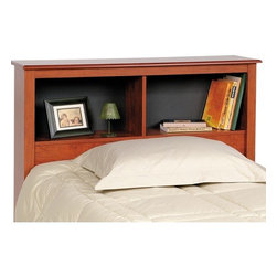 Prepac - Monterey Bookcase Headboard - The Monterey collection offers a sophisticated look at a fraction of the price. Distinguishing features such as elegantly profiled edges on the tops and drawer fronts, uniquely shaped kickers and antique pewter finished hardware give this ready to assemble collection a stylish elegance. Thoughtful engineering and intelligently grouped production let you enjoy pricing that's well below the cost of traditional prefinished products. The two compartments of the 11'' deep bookcase style Twin headboard provide ample space for bedside reading material, clocks and Teddy. Designed to fit either a double or queen bed, the 11'' deep bookcase style Double/Queen Headboard has three compartments which provide ample space for bedside reading material, clocks etc. Features: -Adjustable shelf on center compartment.-Attractive profiled MDF tops and moldings.-High quality, laminated composite wood construction.-Monterey collection.-Gloss Finish: No.-Powder Coated Finish: No.-Hardware Material: Metal, Plastic & Wood.-Non Toxic: Yes.-Scratch Resistant: No.-Adjustable Height: No.-Lighting Included: No.-Reversible: No.-Media Outlet Hole: No.-Built In Outlets: No.-Number of Shelves (Size: Twin): 2.-Number of Shelves (Size: Double, Queen): 4.-Adjustable Shelves (Size: Twin): No.-Adjustable Shelves (Size: Double, Queen): Yes.-Finished Back: No.-Distressed: No.-Hidden Storage: No.-Freestanding: Yes.-Frame Required: No.-Frame Compatibility (Size: Twin): Twin.-Frame Compatibility (Size: Queen): Queen.-Frame Compatibility (Size: Double): Full/Double.-Swatch Available: No.-Eco-Friendly: Yes.-Product Care: Wipe clean with damp cloth.-Commercial Use: Yes.-Recycled Content: No .-Country of Manufacture: Canada.Specifications: -FSC Certified: No.-EPP Compliant: No.-CPSIA or CPSC Compliant: No.-CARB Compliant: Yes.-JPMA Certified: No.-ASTM Certified: No.-ISTA 3A Certified: Yes.-PEFC Certified: No.-General Conformity Certificate: No.-Green Guard Certified : No.Dime