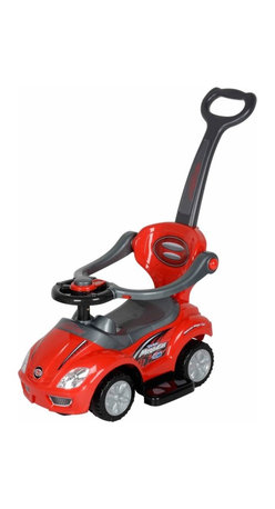 Best Ride On Cars - Best Ride On Cars 3 in 1 Riding Push Toy - Red Multicolor - 3 IN 1 PUSHCAR RED - Shop for Tricycles and Riding Toys from Hayneedle.com! Whether your child is riding along or pushing the car himself he'll love going out in the 3 in 1 Push Car - Red. This fun and sporty car allows your child to pretend to drive while you easily push it from behind. With a steering wheel that plays music your little one will love going out in their car and seeing the sites. Made for children ages one- to -three-years-old this stroller makes going anywhere more fun. Additional Features Steering wheel allows your child to drive Handle makes it easy for you to push Child can also push the car with their feet Fun sporty design About Best Ride On CarsRealizing that an active childhood leads to a long healthy life Best Ride On Cars was formed with the admirable goal of helping kids enjoy every moment of their childhood through safe and active play. Producing a huge selection of high-quality toys for all age groups Best Ride On Cars helps bring families together through interactivity. Specializing in battery operated cars jeeps motorcycles and ATVs Best Ride On Cars has also grown to develop electric scooters bounce houses and even weight scales.