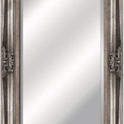YOSEMITE HOME DECOR - Antique Silver Framed Mirror - Mirror of Antique Wood Resin frame with intricate detailing