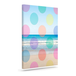 """Kess InHouse - Bree Madden """"Beach Polka"""" Wrapped Art Canvas (30"""" x 24"""") - Bring your outdoor patio to life with this artistic outdoor canvas wrap featuring gorgeous artwork by KESS InHouse. These canvases are not only easy to hang and remove but also are the perfect addition to your patio collection. These canvases are stretched around a wooden frame and are built to withstand the elements and still look artistically fabulous. Decorating your patio and walls with these prints will add the splash of art and color that is needed to bring your patio collection together! With so many size options and artwork to choose from, there is no way to go wrong with these KESS Canvas Wraps!"""