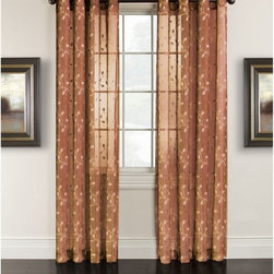 Arlee Home Fashions - Arlee Home Fashions Cloister Ombre Embroidered Grommet Panel Pair - 29-41430RST - Shop for Curtains and Drapes from Hayneedle.com! You ll love the beauty and versatility of the Arlee Home Fashions Cloister Ombre Embroidered Grommet Panel Pair. Available in your choice of color and length this sophisticated set of curtain panels is crafted from 100% polyester and is machine washable for your convenience. You ll love the natural weave and the way these panels delicately drape as though they are made from linen adding an elegant look to your home. The scroll pattern is embroidered throughout the entire curtain and these curtains are versatile enough to hang indoors or near a patio or deck window. Additional Features Scroll pattern embroidered throughout Hang indoors or near a patio or deck window About Arlee Home FashionsArlee Home Fashions Inc. manufactures and markets household textiles like decorative pillows chair pads floor cushions curtains table linens and pet beds. The company was incorporated in 1976 and is based in New York New York.