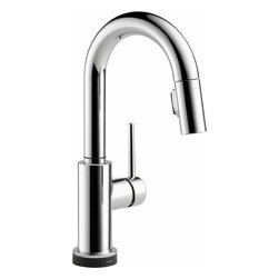 Delta Faucet - Trinsic Pull-Down Bar Faucet Touch2O Chrome - 9959T-DST Trinsic 1-Handle Pull-Down Sprayer Bar Faucet Featuring Touch2O Technology in Chrome