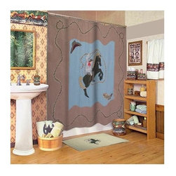 Patch Magic - Cowboy Cz Shower Curtain - 72 in. W x 72 in. L. 100% Cotton. Handmade. Machine washable. Line or flat dry only