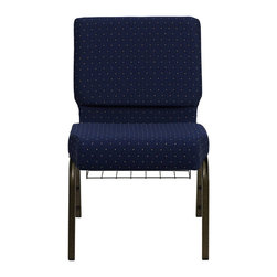 Flash Furniture - Flash Furniture Hercules Series Patterned Church Chair in Navy Blue - Flash Furniture - Guest Chairs - FDCH02214GVS0810BASGG -This Hercules Series Church Chair will add elegance and class to any Church, Hotel, Banquet Room or Conference setting. This built to last chair has a 16-gauge steel frame that has been tested to hold 800 lbs. This church chair features double support bracing, ganging clamps, a cushion that graduates to a 5'' thick waterfall edge and plastic floor glides to protect non-carpeted floors. Our church chair is manufactured by one of the most reputable stack chair manufacturers in the industry, you can be assured of the quality of this chair offered to you. [FD-CH0221-4-GV-S0810-BAS-GG]