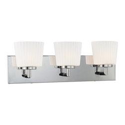 "Kovacs - Kovacs P5143-077 3 Light Up Lighting 20"" Wide ADA Compliant Bathroom Fixture fro - George Kovacs P5143 Three Light Bathroom Fixture"
