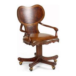 Jonathan Charles - New Jonathan Charles Office Chair Mahogany - Product Details