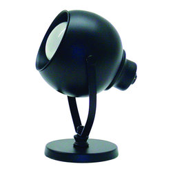 "House of Troy - Spot Light Eyeball Black - Dimensions: 6""D, 3.25W, 3.25D."
