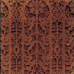 Carved Arch Panel Classic Border Stencil - Carved Arch Panel Classic Border Stencil from Royal Design Studio for walls, furniture, ceiling, floor, and fabric.