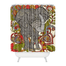 DENY Designs - Valentina Ramos Bo The Elephant Shower Curtain - Who says bathrooms can't be fun? To get the most bang for your buck, start with an artistic, inventive shower curtain. We've got endless options that will really make your bathroom pop. Heck, your guests may start spending a little extra time in there because of it!
