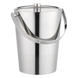 Gatsby Ice Bucket - An ice bucket is extremely important for hosting an evening of entertaining, and how gorgeous is this Gatsby ice bucket? Evoking an era of pure luxury and entertainment, the designs of the Gatsby collection from Crate & Barrel entice me to build my barware collection with an art deco twist.
