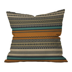 DENY Designs - DENY Designs Viviana Gonzalez Textures Abstract 18 Outdoor Throw Pillow - Do you hear that noise? It's your outdoor area begging for a facelift and what better way to turn up the chic than with our outdoor throw pillow collection? Made from water and mildew proof woven polyester, our indoor/outdoor throw pillow is the perfect way to add some vibrance and character to your boring outdoor furniture while giving the rain a run for its money. Custom printed in the USA for every order.