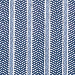 Serena & Lily - Herringbone Wallpaper Navy - We love a classic herringbone. With looser lines in fabulous color pairings, it's a look we find downright irresistible. To ensure each palette printed perfectly, we worked closely with one of the country's most historic wallcovering manufacturers. Navy and denim blue on a white ground.