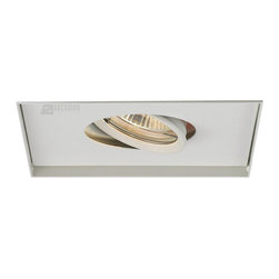 W.A.C. Lighting - W.A.C. Lighting MT-116TL-WT Single Light Metal Halide Multiple Spot Invisible Tr - Square single light gimbal ring style adjustable recessed fixture, available with trim or Invisible Trim™, designed to sit flush with the ceiling for a clean, architectural look. Housing and trim ordered separately.