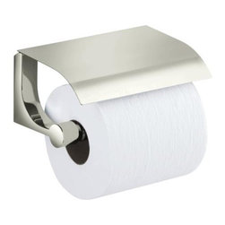 KOHLER - KOHLER K-11584-SN Loure Covered Toilet Tissue Holder in Polished Nickel - KOHLER K-11584-SN Loure Covered Toilet Tissue Holder in Polished NickelDecorative accessories in the bathroom not only add functionality, but also offer a means to bring design cohesiveness and personal style to the space. Loure(TM) accessories offer a wide range of products with a distinct, contemporary look and feel. With consumers developing an increasing appetite for modern design in their bathrooms, this new collection complements the existing KOHLER accessories selection with a sophisticated, contemporary aesthetic.KOHLER K-11584-SN Loure Covered Toilet Tissue Holder in Polished Nickel, Features:• Coordinates with contemporary faucet collections
