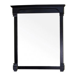"""Bellaterra Home - Rectangular Solid Wood Espresso Frame Mirror - Solid wood construction frame with high quality mirror to withstand bathroom humidity. Frame Dimensions: 42""""W X 41.5""""H X 2.4""""D; Finish: Espresso; Material: Birch ; Beveled: No; Shape: Rectangular; Weight: 41.4; Included: Brackets, Ready to Hang"""