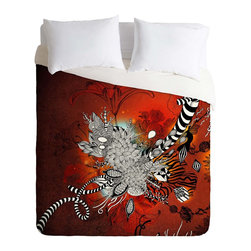 DENY Designs - DENY Designs Iveta Abolina Wild Lilly Duvet Cover - Lightweight - Turn your basic, boring down comforter into the super stylish focal point of your bedroom. Our Lightweight Duvet is made from an ultra soft, lightweight woven polyester, ivory-colored top with a 100% polyester, ivory-colored bottom. They include a hidden zipper with interior corner ties to secure your comforter. It is comfy, fade-resistant, machine washable and custom printed for each and every customer. If you're looking for a heavier duvet option, be sure to check out our Luxe Duvets!