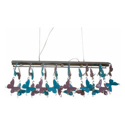 Galapagos Ceiling Lamp Turquoise / Purple - Product Details