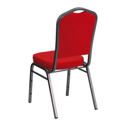 Flash Furniture - Flash Furniture Banquet Stack Chairs Banquet Stack Chairs - This is one tough chair that will withstand the rigors of time. With a frame that will hold in excess of 500 lbs., the HERCULES Series Banquet Chair is one of the strongest banquet chairs on the market. You can make use of banquet chairs for many kinds of occasions. This banquet chair can be used in Church, Banquet Halls, Wedding Ceremonies, Training Rooms, Conference Meetings, Hotels, Conventions, Schools and any other gathering for practical seating arrangements. The banquet chair is also great for home usage from small to large gatherings. For any environment that you use a banquet chair it will put your guests at a greater comfort level with the padded seat and back. Another advantage is the stacking capability that allows you to move the chairs out of the way when not in use. With offerings of comfort and durability, you can be assured that you can enjoy this elegant stacking banquet chair for years to come. [FD-C01-SILVERVEIN-RED-GG]