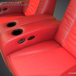 Most Exclusive Media Room Seats. The Nero by CINEAK. - ALL LEATHER LUXURY AND COMFORT