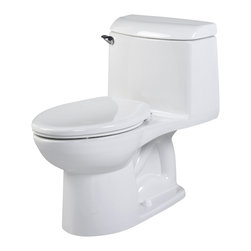 American Standard - Champion 4 Right Height Elongated One-Piece Toilet in White - American Standard 2034.014.020 Champion 4 Right Height Elongated One-Piece Toilet in White.
