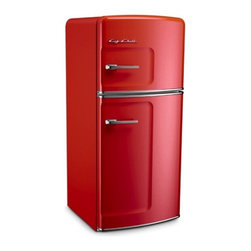 Big Chill - Big Chill Studio 14.4 cu. ft. Top-Freezer Fridge - Cherry Red - I adore this red color. It is simple yet classic. I would love to go back to this style with two simple doors.