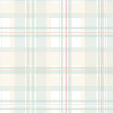 Rose, Green, Tan, and White Plaid - AB27605 - Collection:Abby Rose 2
