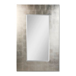 Uttermost - Rembrandt Silver Mirror - The gleam in your eye will be all the more apparent with this mirror in your decor. Simple and silvery, it brings handsome style to your favorite setting.