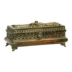 Sterling - Sterling 26-1756 Sterling Decorative Pierced Glove Box - Sterling 26-1756 Sterling Decorative Pierced Glove Box