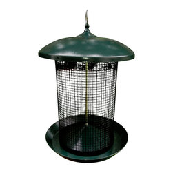 Zenport - Sunflower Seed Screen Feeder - -Hanging feeder holds 6 to 7-pounds of black oil sunflower, hulled sunflower, or sunflower mixes