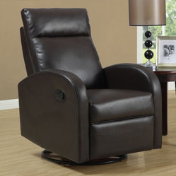 Jareth Leather Swivel Rocker Recliner