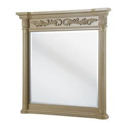 Pegasus - Pegasus Estates 38 in. x 36 in. Wall Mirror in Antique White (ETAM3638) - Estates 38 in. L x 36 in. W Wall Mirror in Antique White