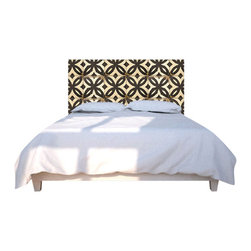 NOYO - Tiles BW Headboard, King - Buh-bye, boring headboards! Hello to a whole new concept in bedroom decor: A cedar frame with a machine-washable slipcover you can change at a whim. Tonight, old-school tiles; next week, whatever you dare to dream of.