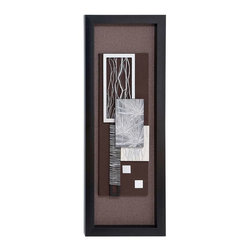 """BZBZ97503 - Wood Framed Art with Shiny Matte Finish - Wood Framed Art with Shiny Matte Finish. Displaying uber style, this framed art work blends well with contemporary decor and setting. It is a nice gifting item too. It comes with the following dimensions 19"""" W x 2"""" D x 55"""" H."""