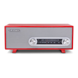 Crosley - Ranchero Radio- Red - Dimensions:  13 x 6 x 5.5 inches
