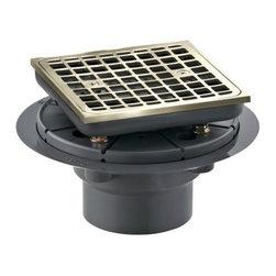 KOHLER - KOHLER K-9136-BN Square Design Tile-In Shower Drain - KOHLER K-9136-BN Square Design Tile-In Shower Drain in Vibrant Brushed Nickel