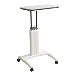 Office Star - Office Star Precision Adjustable Laptop Stand in White - Office Star - Mobile Laptop Carts - PSN620