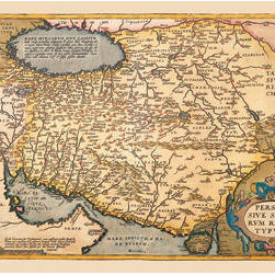 Buyenlarge - Map of The Middle East 28x42 Giclee on Canvas - Series: Theatro D'el Orbe La Tierra - Ortelius