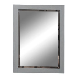 Decolav - Decolav 9719-SLT Briana Slate Wall Mirror - DECOLAV's Briana Collection is artfully crafted while not sacrificing style or function. The rectangular mirror is classic in style featuring a thick wooden frame. Its intriguing design adds the final touch to your bathroom style.