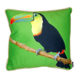 lava - Toucan Pillow - Add a burst of graphic style to your seating or bed with this bright pillow emblazoned with a colorful toucan. Features: -Pillow. -Durable 100% polyester cover and fill. -Add elegant style to your home decor with lava decorative throw pillows. -Spot clean only. -Made in the USA.