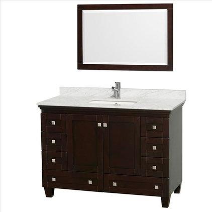 van067 48 t wood vanity black granite top 2574 downstairs bath buy