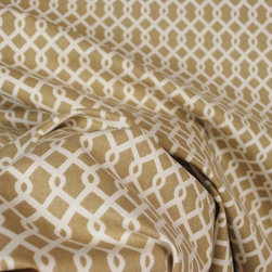 Waverly Ellis Hemp Tan Trellis Drapery Fabric By The Yard - Ellis Hemp is trellis Waverly fabric drapery fabric. 100% Cotton the vertical repeat is 1.5 inches and the horizontal repeat is 1.75 inches.