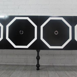 Tall Monte Carlo Credenza - This is such a graphic and fun side piece. It's the perfect place to store your dishes.
