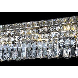 Elegant Lighting - Elegant Lighting 2032W18C/EC Maxim 4 Light Bathroom Vanity Lights in Chrome - 2032 Maxim Collection Wall Sconce L18in W4.5in H6.25in Lt:4 Chrome Finish (Elegant Cut Crystals)